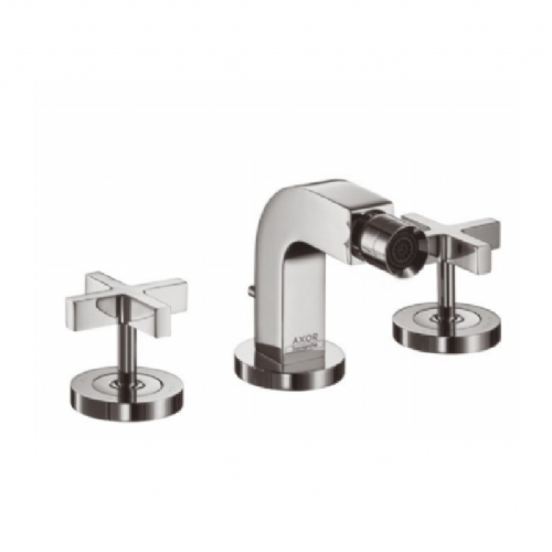 Hansgrohe Citterio 3 Hole Bidet Tap With Cross Plate Without Handles (Model 39233000)
